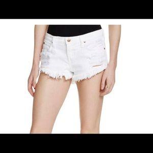 Pistola Denim White Gigi Jean Shorts Destroyed S